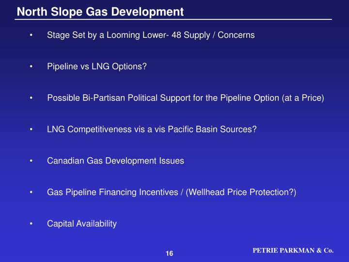 North Slope Gas Development