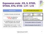 expression orale es s sti2d std2a stg st2s lv1 lv2