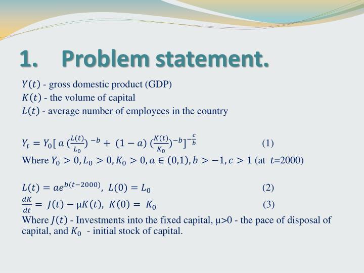 1 problem statement