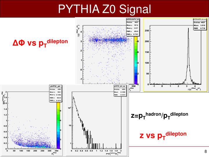 PYTHIA Z0 Signal