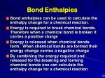 bond enthalpies
