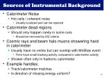sources of instrumental background