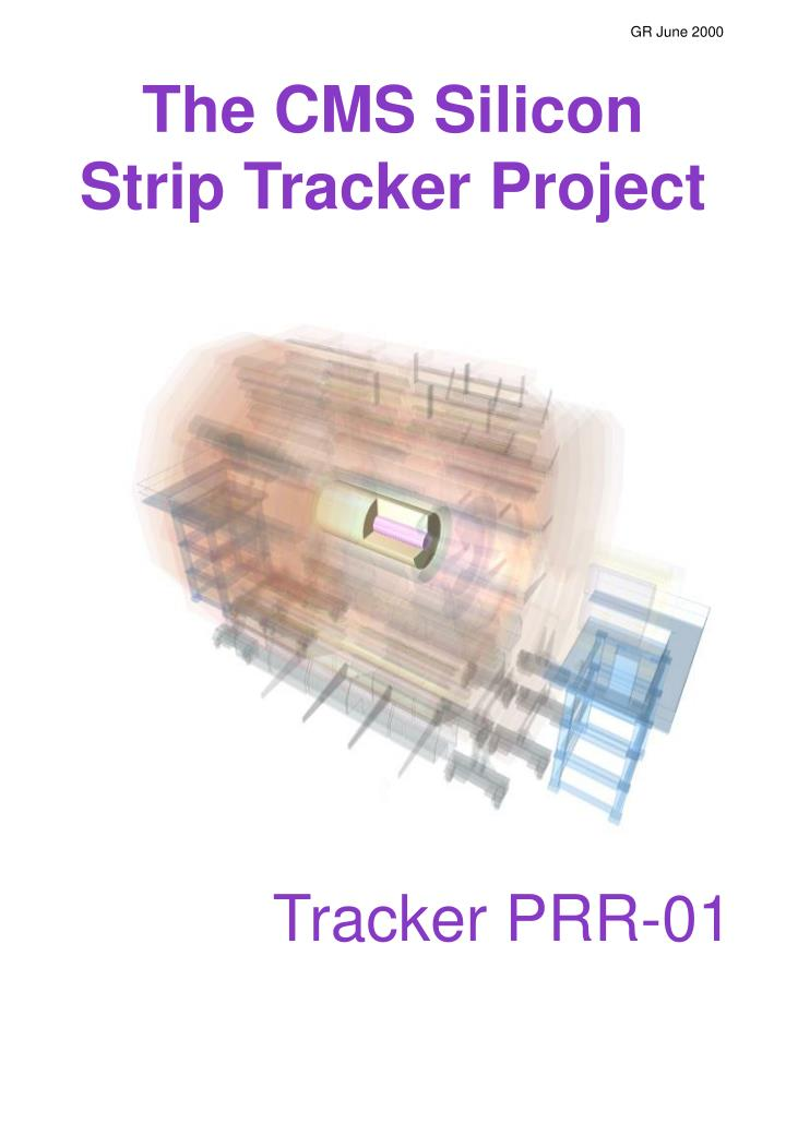 The cms silicon strip tracker project