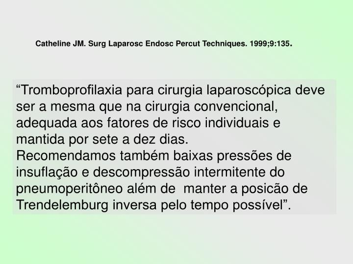 Catheline JM. Surg Laparosc Endosc Percut Techniques. 1999;9:135