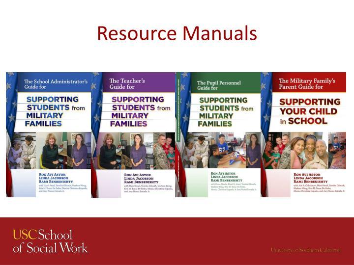 Resource Manuals