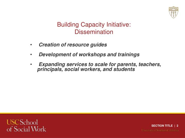 Building Capacity Initiative: