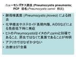 pneumocystis pneumonia pcp pneumocystis carinii