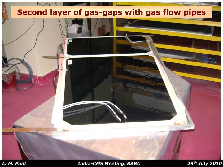 Second layer of gas-gaps with gas flow pipes