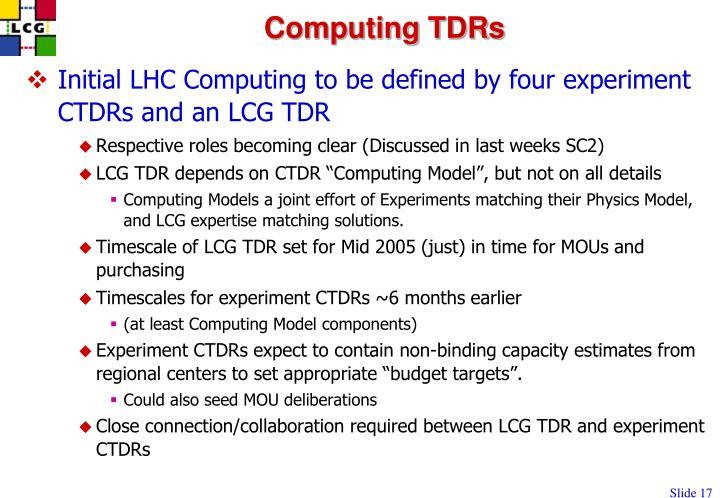 Computing TDRs