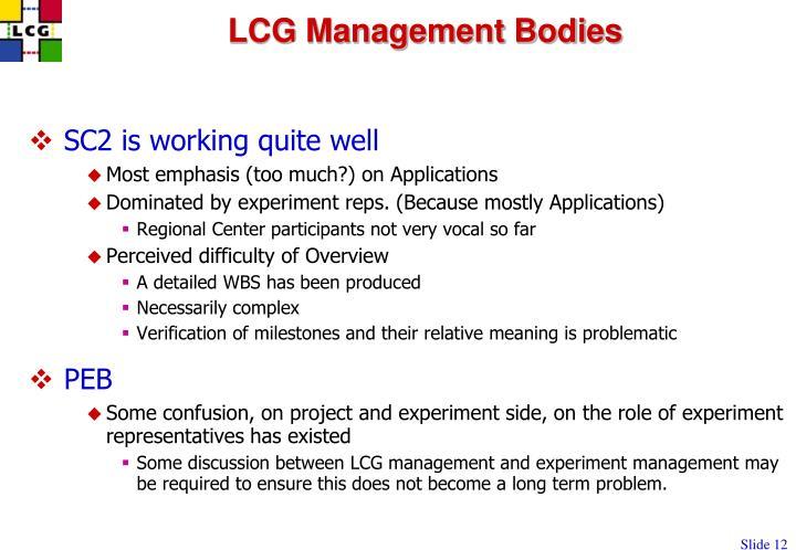 LCG Management Bodies