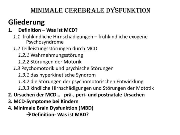 Minimale cerebrale dysfunktion1