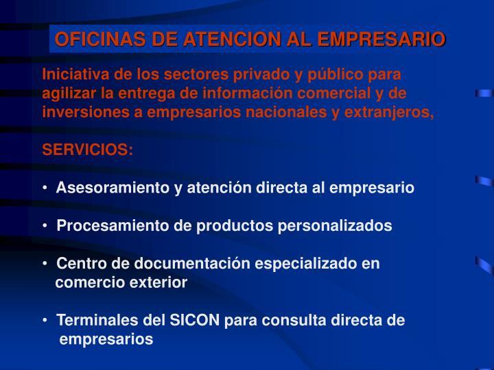 OFICINAS DE ATENCION AL EMPRESARIO