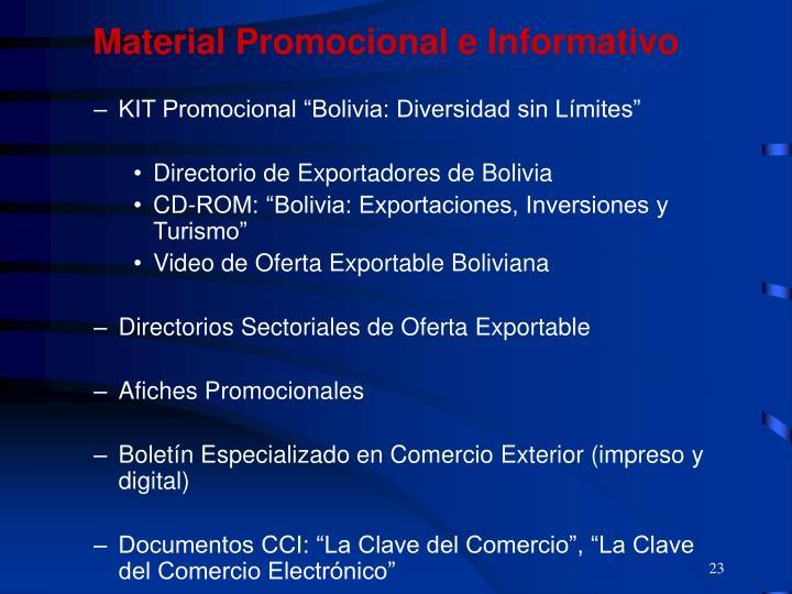 Material Promocional e Informativo