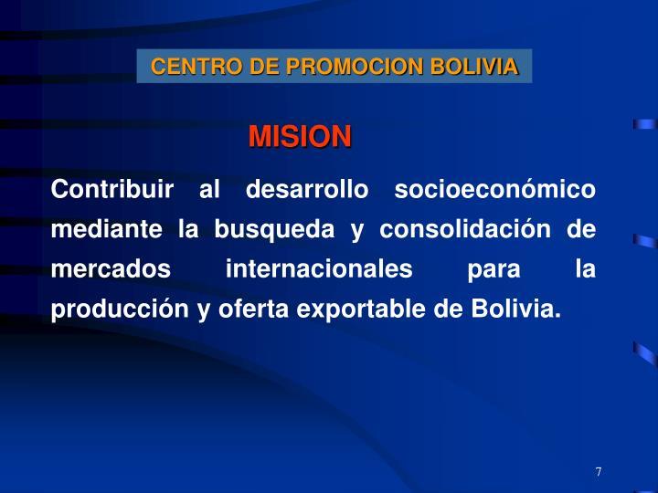CENTRO DE PROMOCION BOLIVIA