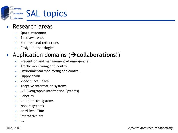 SAL topics