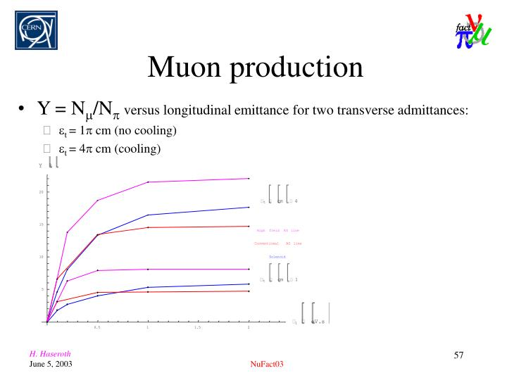 Muon production