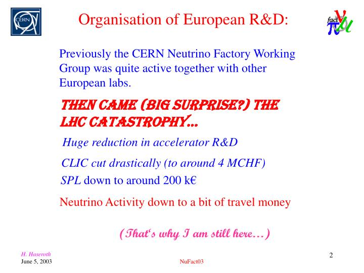 Then came (BIG surprise?) the LHC catastrophy…