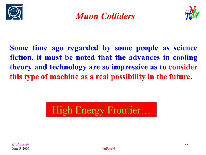 Muon Colliders