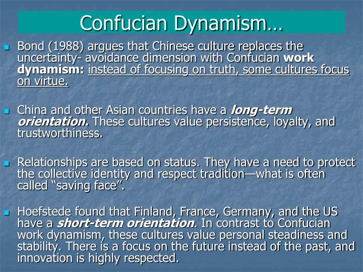 Confucian Dynamism…