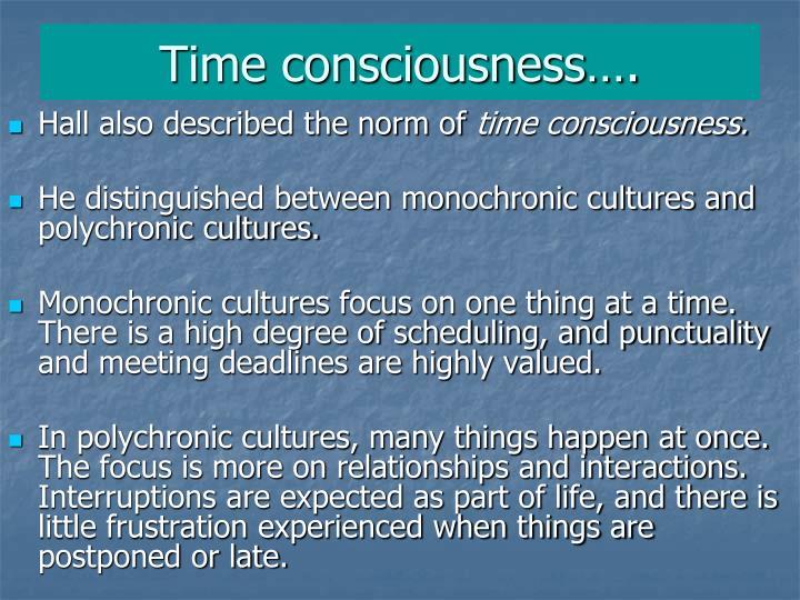 Time consciousness….