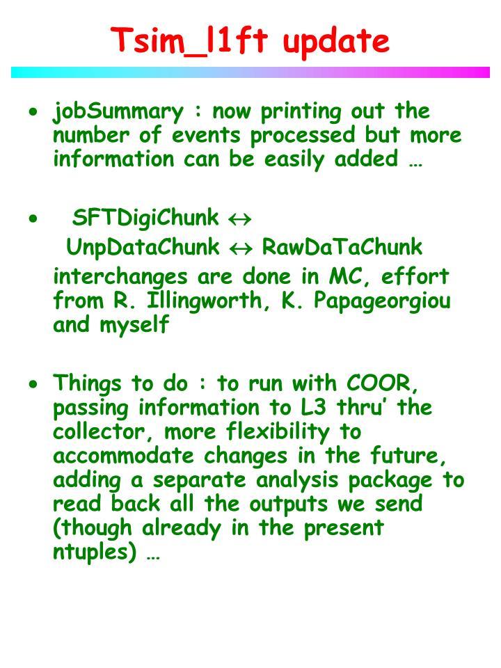 Tsim_l1ft update