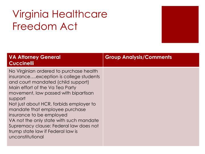 Virginia Healthcare Freedom Act