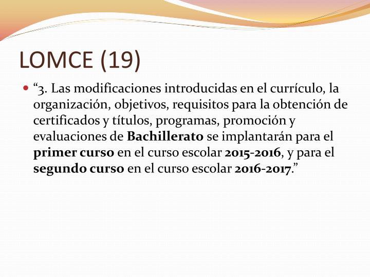 LOMCE (19)