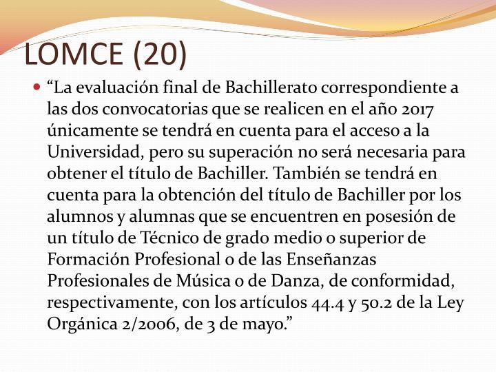 LOMCE (20)