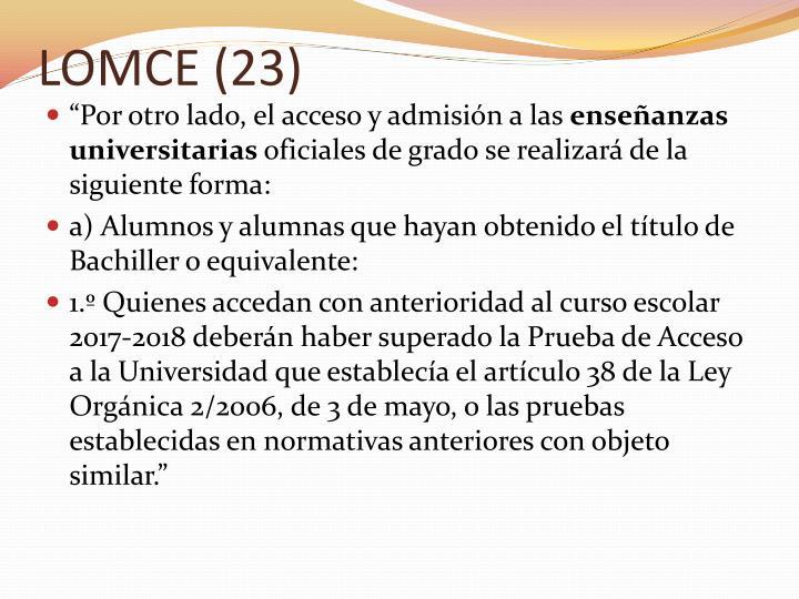 LOMCE (23)