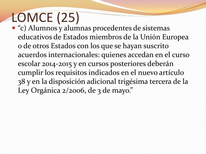 LOMCE (25)