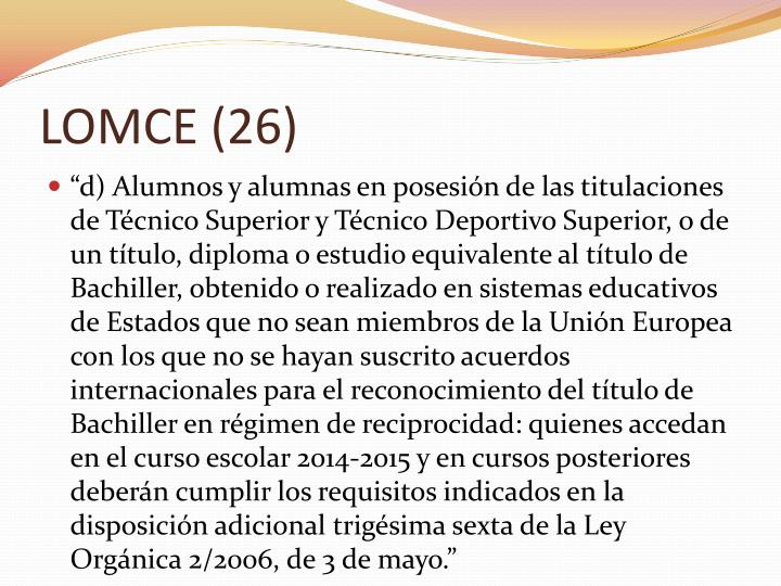 LOMCE (26)