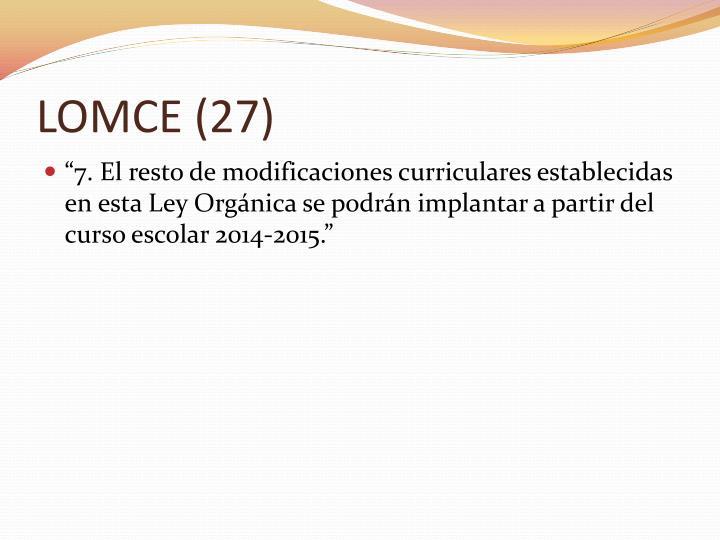 LOMCE (27)