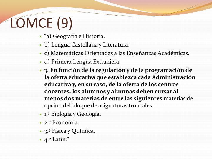 LOMCE (9)