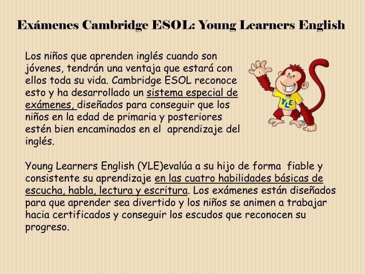 Exámenes Cambridge ESOL: Young Learners English