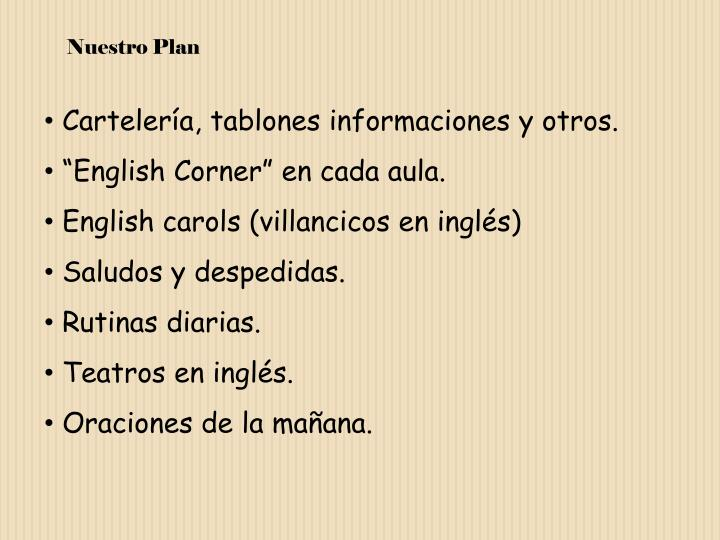 Nuestro Plan