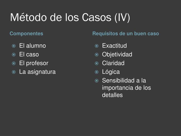 Método de los Casos (IV)