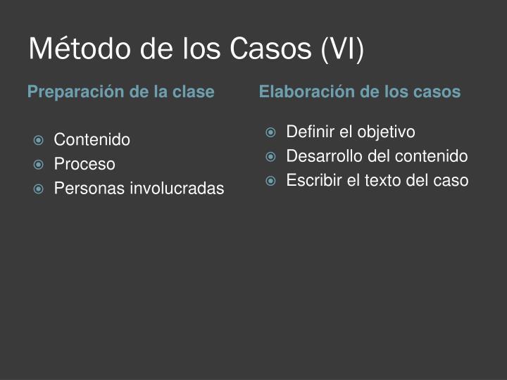 Método de los Casos (VI)