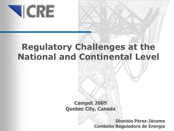 Regulatory Challenges at the