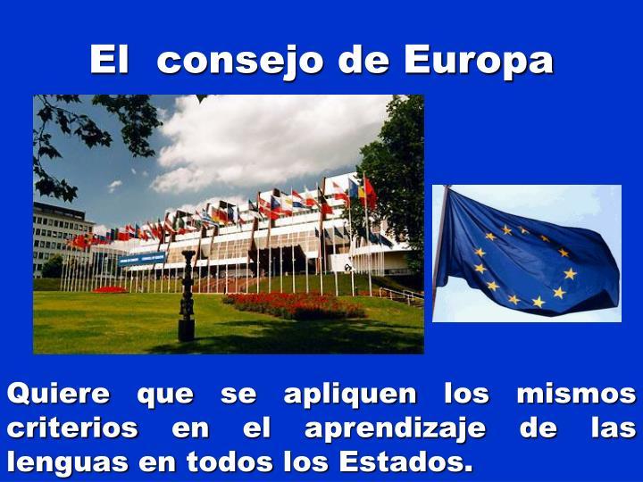 El consejo de europa