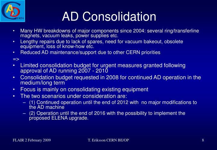 AD Consolidation