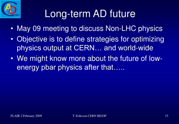 Long-term AD future
