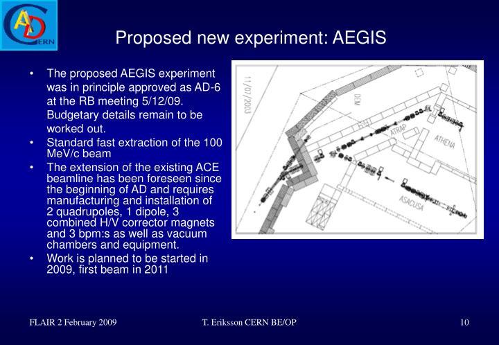 Proposed new experiment: AEGIS