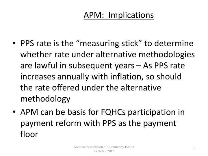 APM:  Implications
