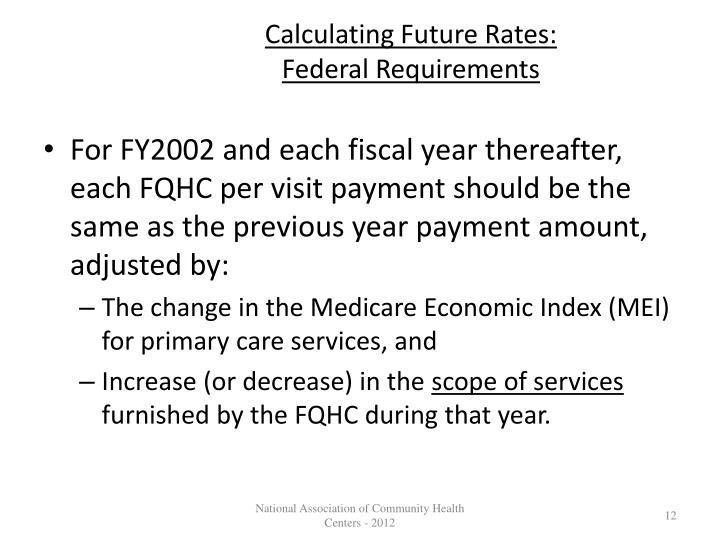 Calculating Future Rates: