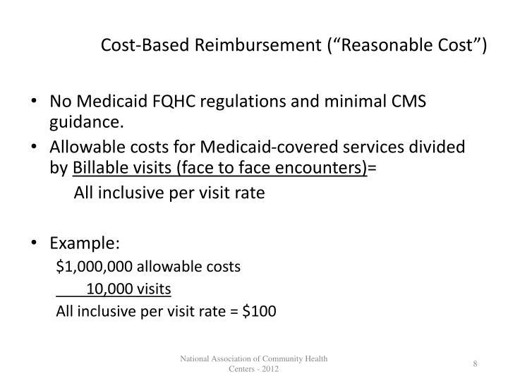"Cost-Based Reimbursement (""Reasonable Cost"")"