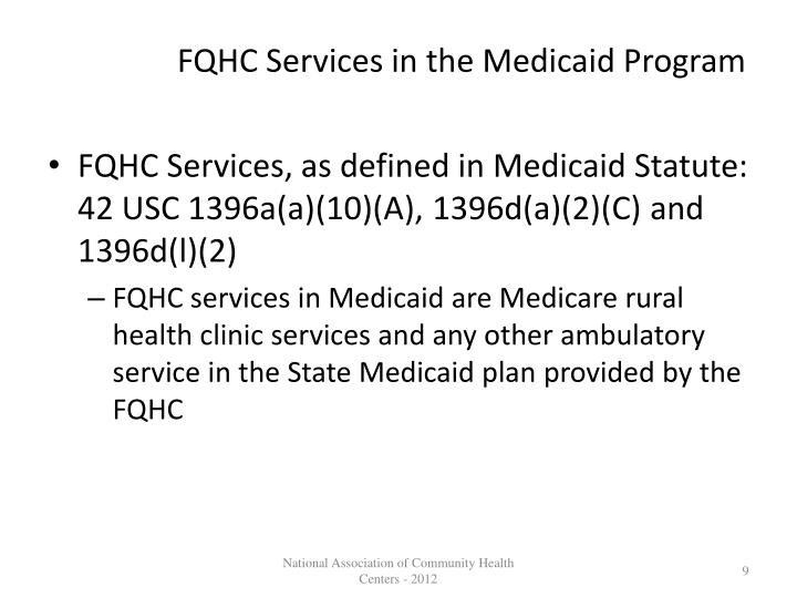 FQHC Services in the Medicaid Program