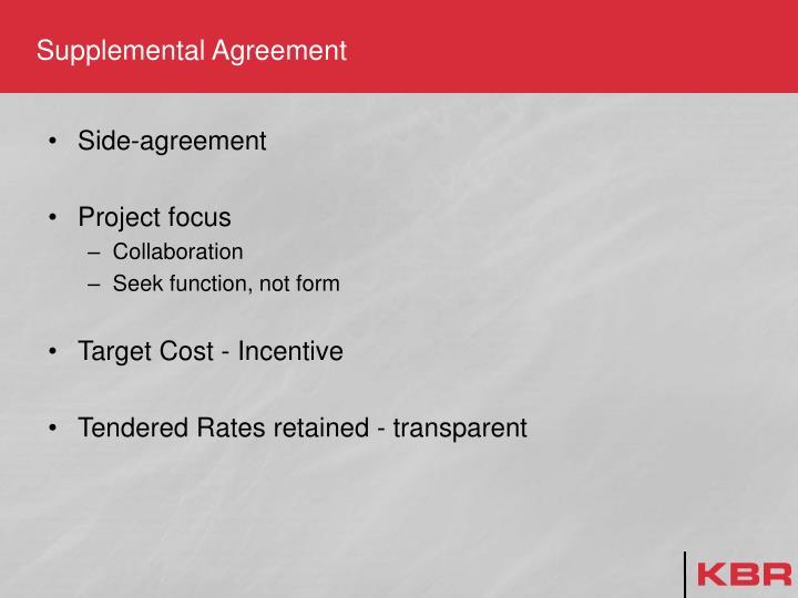 Supplemental Agreement