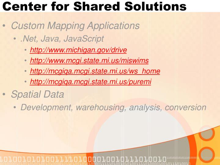 Center for Shared Solutions