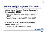 which bridge exports do i send