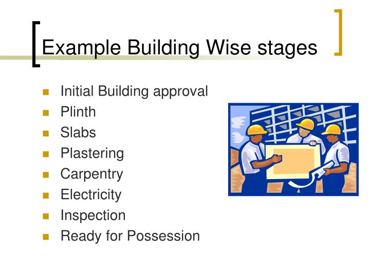 Example Building Wise stages